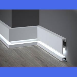 LED Sockelleiste aus Duropolymer QL019+QL021 Mardom Decor 10 cm