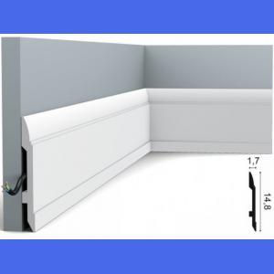 Fussleiste 14,8 x 1,7 cm SX104 Flexible Orac Decor 14.8 cm