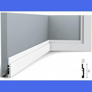 Fussleiste 7,5 x 1,2 cm SX187 Flexible Orac Decor 7,5 cm