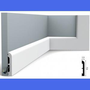 Fussleiste 7,5 x 1,3 cm SX183 Flexible  Orac Decor 7,5 cm