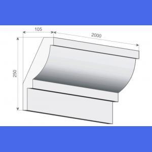 Deckenabschlussleiste FE5 - 25 cm 10.5 cm