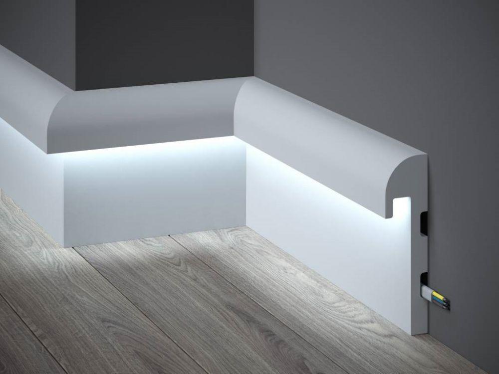 MUSTER Mardom Decor Lichtleiste QL007-10cm Sockelleiste f/ür indirekte Beleuchtung