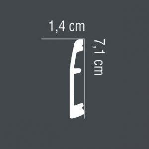 Fußleiste Aluminium MD017A Mardom Decor 1.4 cm