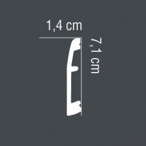 Aluminium Bodenstuck MD017SS Mardom Decor 1.4 cm