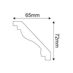 Deckenleiste - MDA001 Mardom Decor 6.5 cm